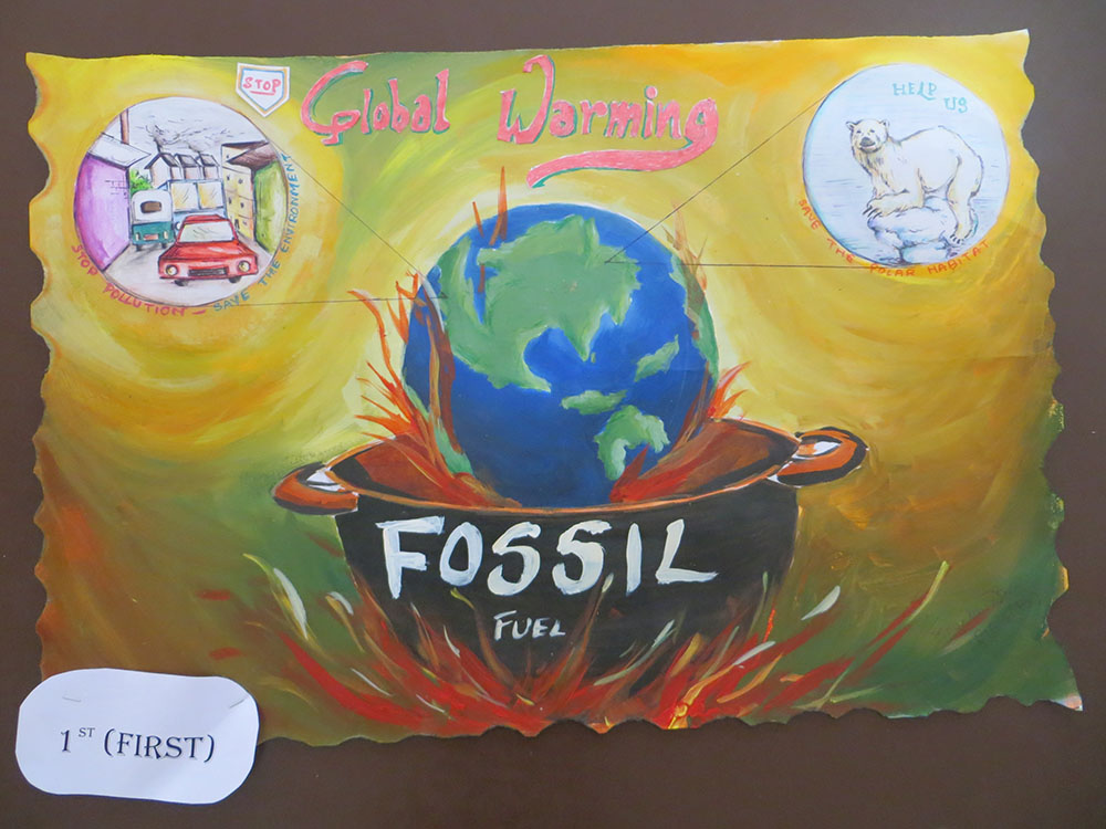 Environment And Education Club Conducted A Poster Competition On Global Warming In 2014
